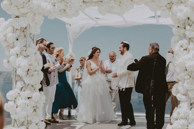 Luxury jewish wedding in Santorini- Greece
