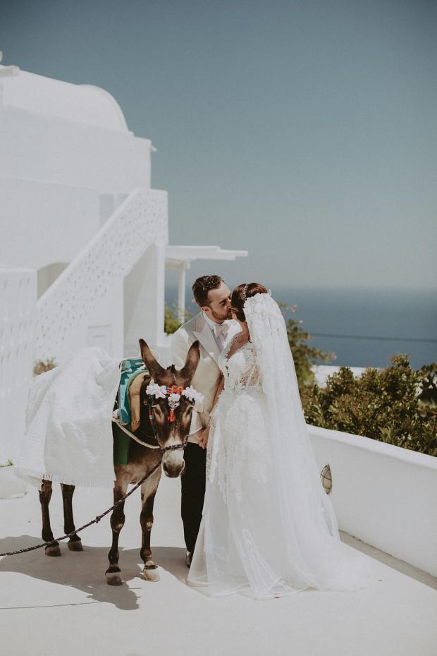 Wedding in Greece-donkey