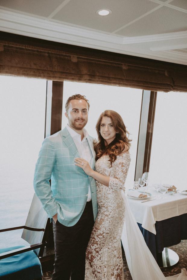 Wedding in Santorini- Greece, followed by a cruise in Italy