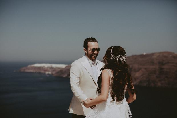 Wedding in  Santorini, Greece- First look