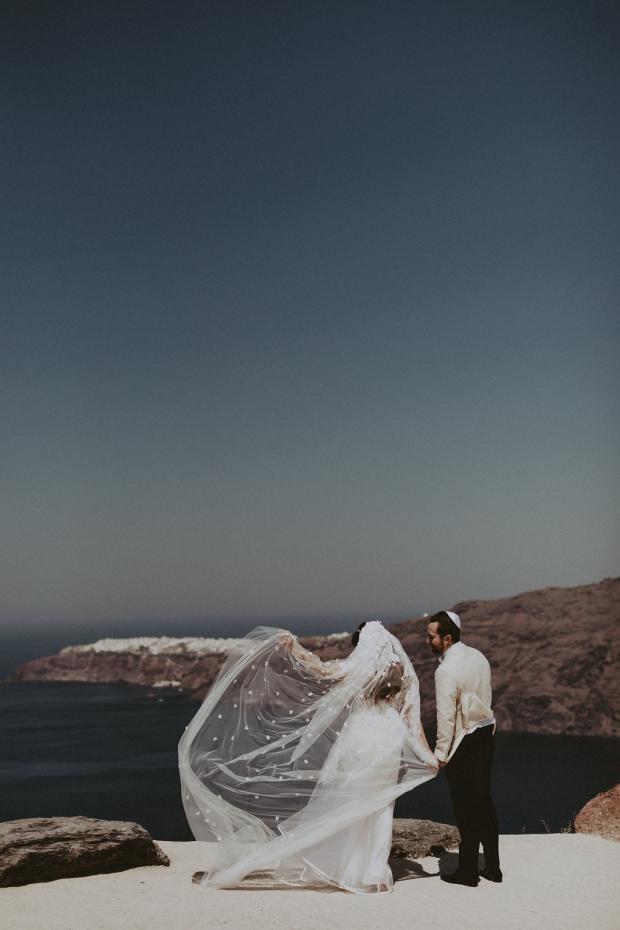 Glamorous Destination Wedding In Santorini Greece