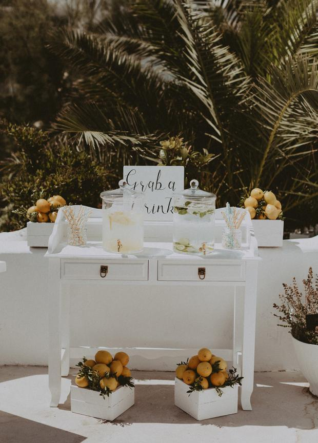 Lemonade station- Wedding in Greece