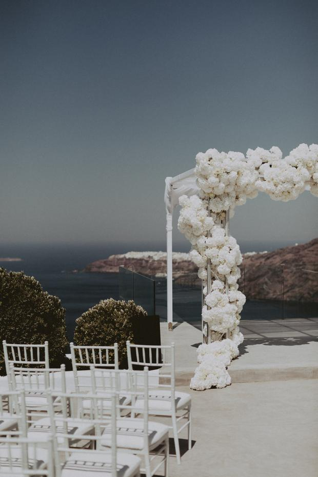 Glamorous wedding in Santorini- Greece