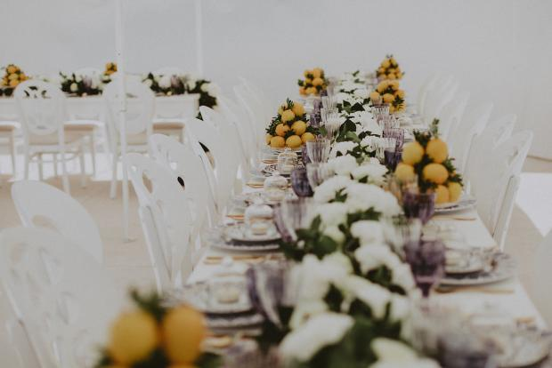 Lemon wedding in Greece and Italy