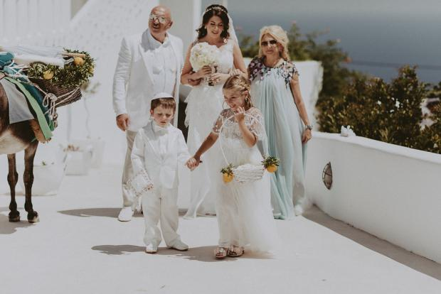 Flower girl & page boy- Wedging in Greece