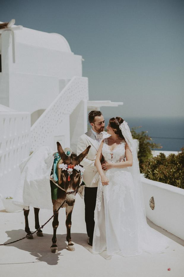 Wedding in Greece-donkey