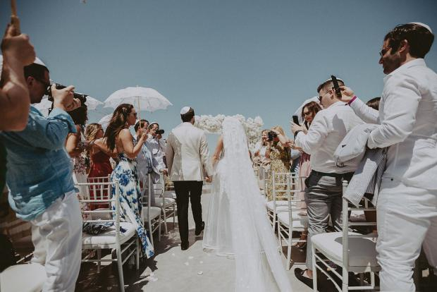 Walking down the aisle- Wedding in Greece