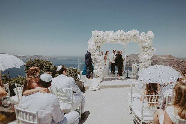 Luxury jewish wedding in Santorini- Greece