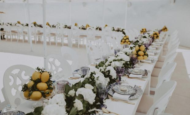 Lemon luxury wedding in Greece and Italy - Tablescape