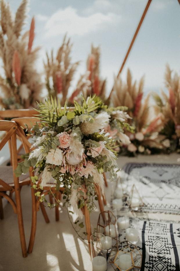 wedding aisle-boho rugs