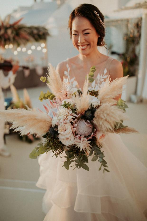 Wedding bouquet-pampas grass