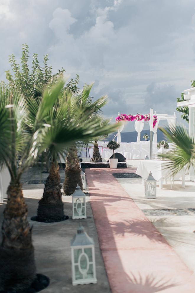 Elegant Destination Wedding In Santorini Tie The Knot In