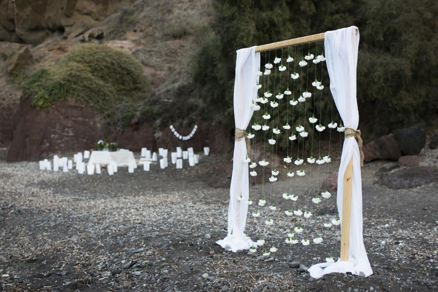 Bohemian wedding in Santorini-Tie the Knot in Santorini