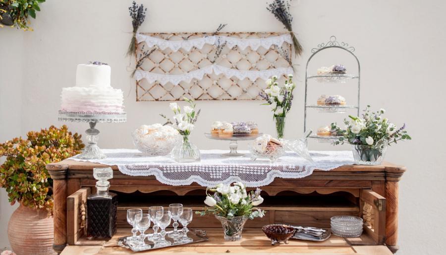 Dessert table- Santorini wedding