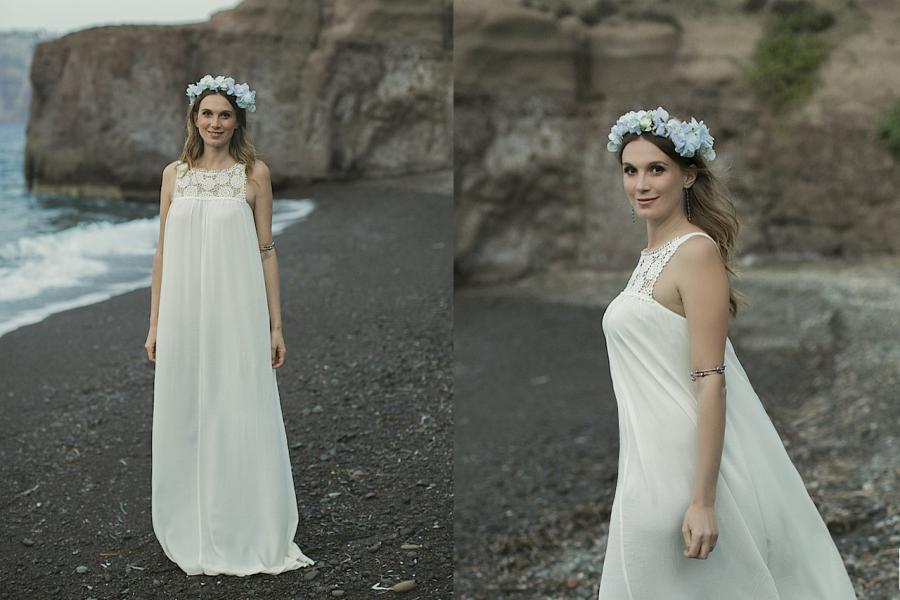 Our Favorite Flower Crowns- Santorini Wedding
