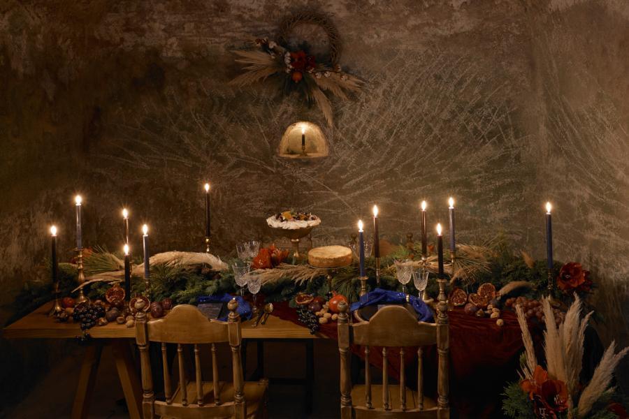 Bohemian Christmas Celebration in Moody Tones